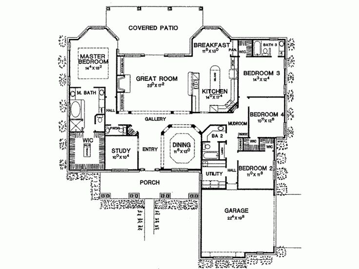 1000 ideas about four bedroom house plans on pinterest for Www eplans com