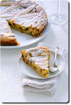 Crostata à la ricotta, zeste de citron, mascarpone et pépites de chocolat