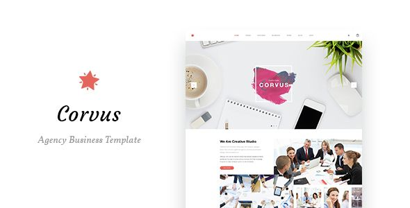 Corvus - Agency Business HTML Template. Fullview: https://themeforest.net/item/corvus-agency-business-html-template/16727748?ref=thanhdesign