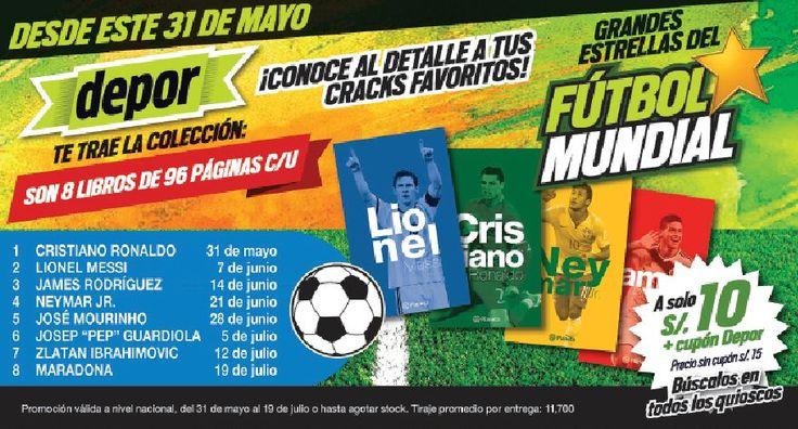 Depor te trae la colección de libros de las estrellas del fútbol mundial. May 31, 2015.