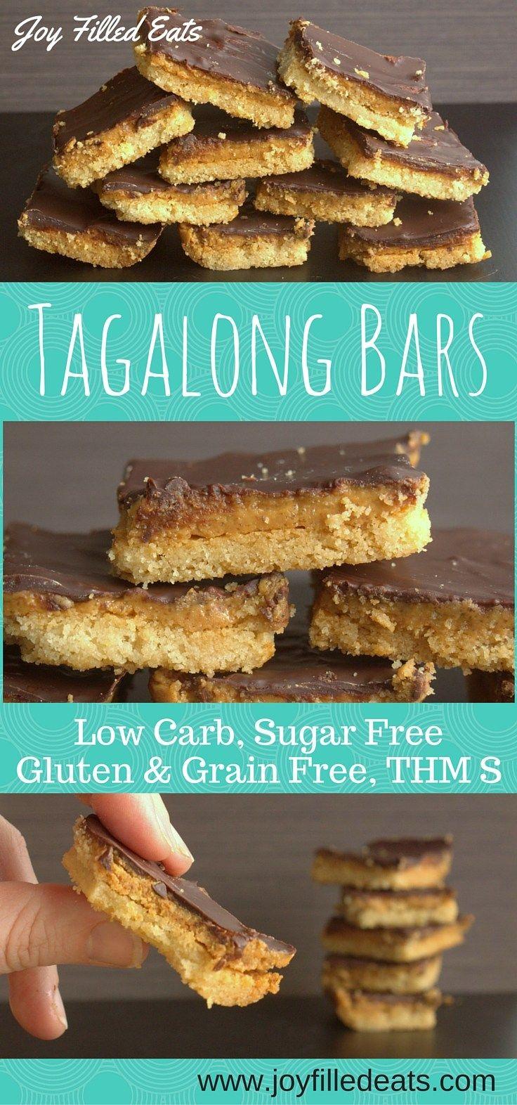 Tagalong Cookies but grain, gluten, & sugar free, & THM S.