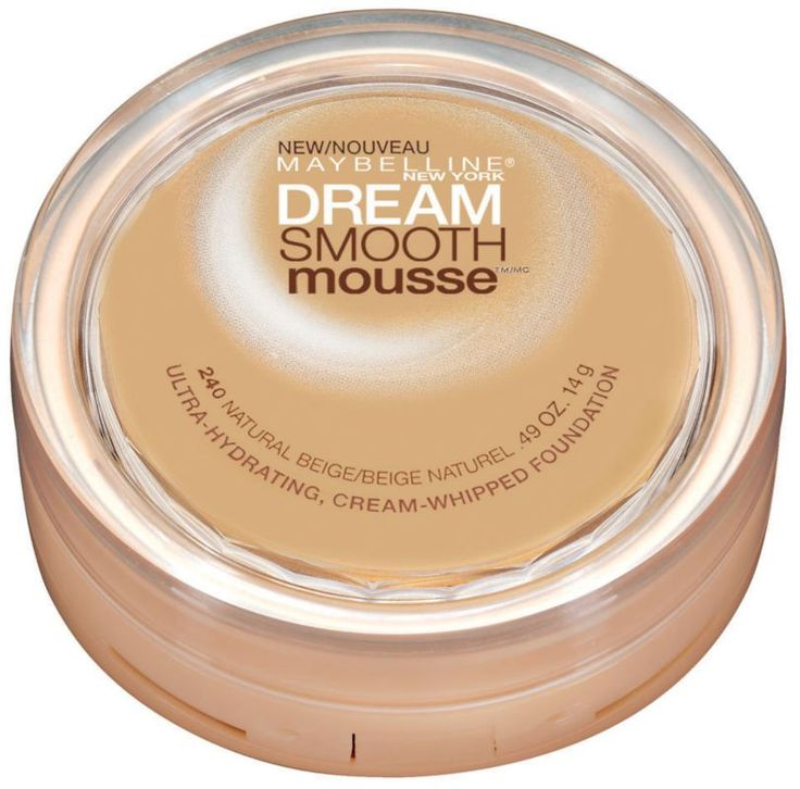 Maybelline Dream Smooth Mousse Foundation is an ultra-hydrating, cream-whipped foundation..  EWG 2