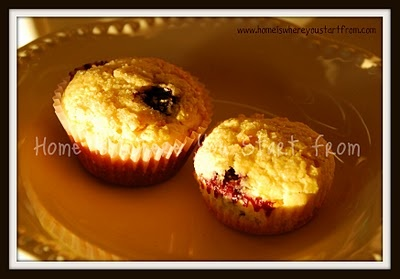 corn muffins with blueberries, a surprising mix of flavors, yummy ...