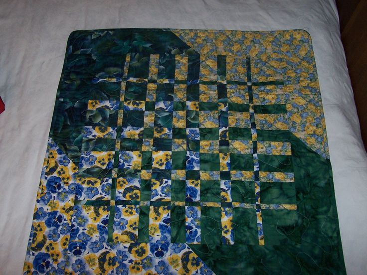Special cutting technic quilt.