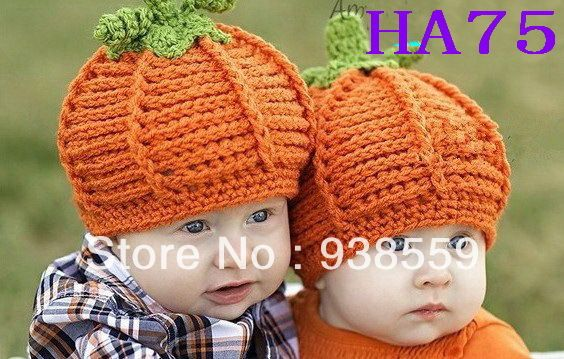 """Cheap Envío libre, Calabaza Ganchillo sombrero Recién Nacido Otoño/halloween/fotografía apoyos de la Foto o el regalo, Compro Calidad Sombreros y Gorras directamente de los surtidores de China: más Diseños, más Opcionesbuena calidad. 100% hecho a mano, 100% algodón. tamaño:S: 44 cm-46 cm (17.3 """"-18.1 &"""
