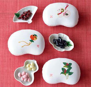 [まめや金澤萬久] 手描き豆箱詰め合わせ「新春」|グルメ・ギフトをお取り寄せ【婦人画報のおかいもの】