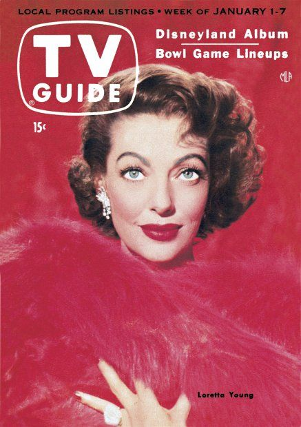 TV Guide, January 1, 1955 - Loretta Young