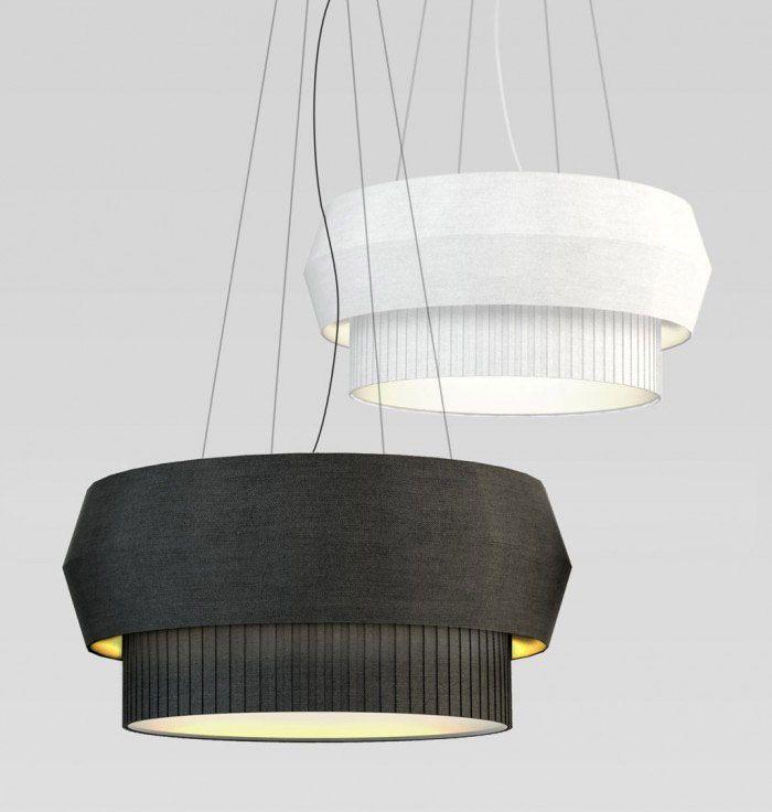 Delta IV Chandelier series in black & white   lighting . Beleuchtung . luminaires   Design: Rich Brilliant Willing  
