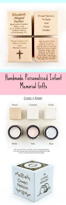 Personalized Infant Memorial Gift| Stillborn Born Memorial Sleeping Infant Loss Angel| Block Baby Angel In Loving Memory Gift