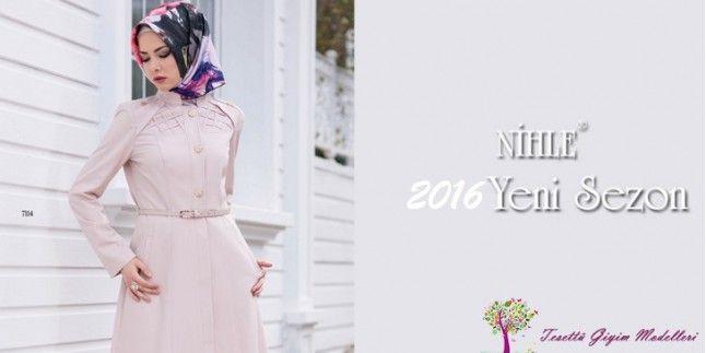 2016 Nihle Tesettür Giyim Pardesü Tunik Kap