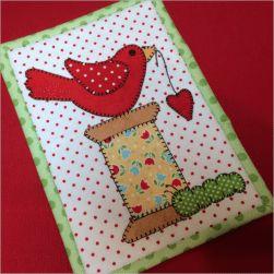 Spoolie Bird Mug Rug Printed Pattern