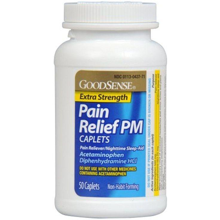 GoodSense Acetaminophen Pain Reliever Fever Reducer Nighttime Sleep Aid 50 Count #GoodSense