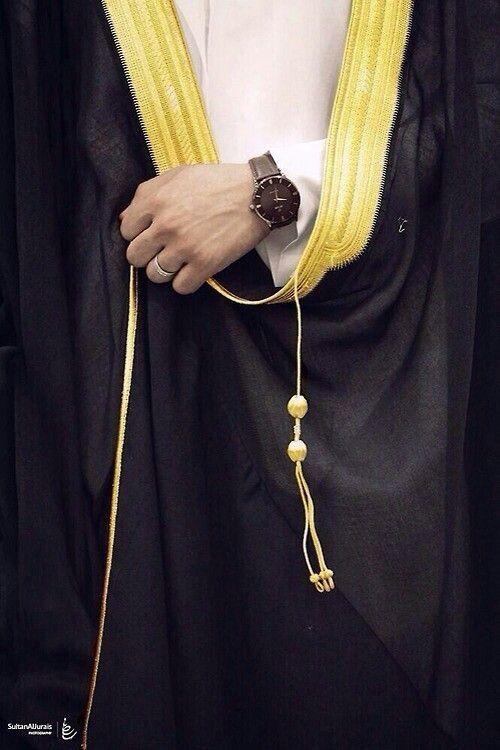 البشت albsht أو المشلح لباس رسمي .. يرتديه العريس وأقاربه ...