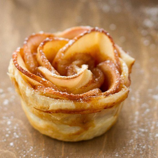 Caramel apple roses. Salted caramel baked right into them!