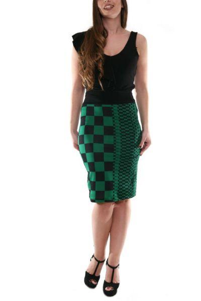 conDiva Green Pencil Tango Skirt.  #tangoskirt #argentinetango #elegant