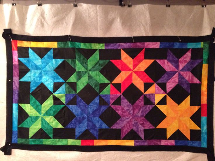 Xmas present for a friend started a table runner turned into a quilt! Lol
