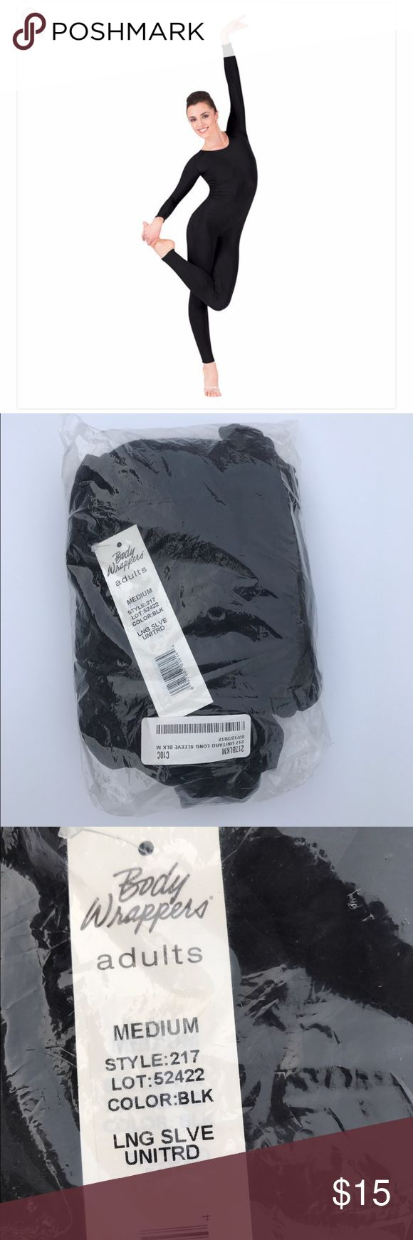 Body Wrappers Black Adult Unitard, Size M New with tags Black Unitard by Body Wrappers with long sleeves. Size M. This is style 217. Perfect for dancers or to wear underneath a costume. I welcome questions. Body Wrappers Other