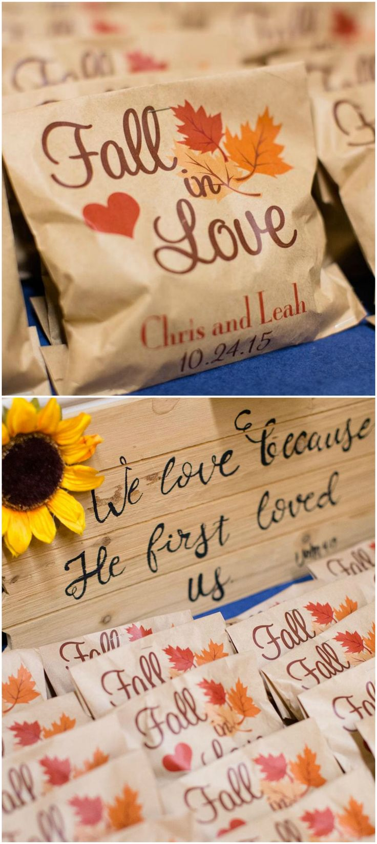 Plantable Wedding Favors - Rustic fall wedding in raleigh wake forest nc