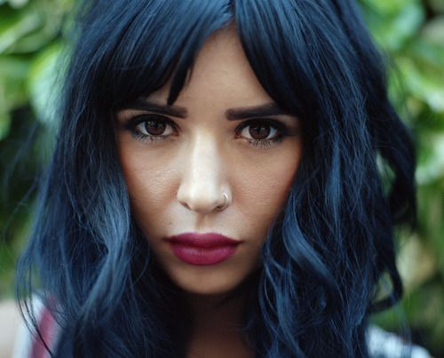Blue Black Hair Tips And Styles - Part 2