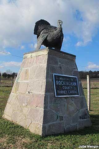 Turkey Statue Marks Turkey Capital #1, Timberville, Virginia
