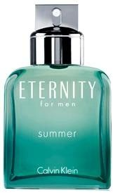 Eternity Summer by Calvin Klein Cologne for Men--The top notes are fresh aromas of melon, juniper berries and chamomile, supplemented by the heart of cedar leaf, hyacinth, mimosa and violet leaf. Base notes are patchouli, amber, musk and guaiac wood.
