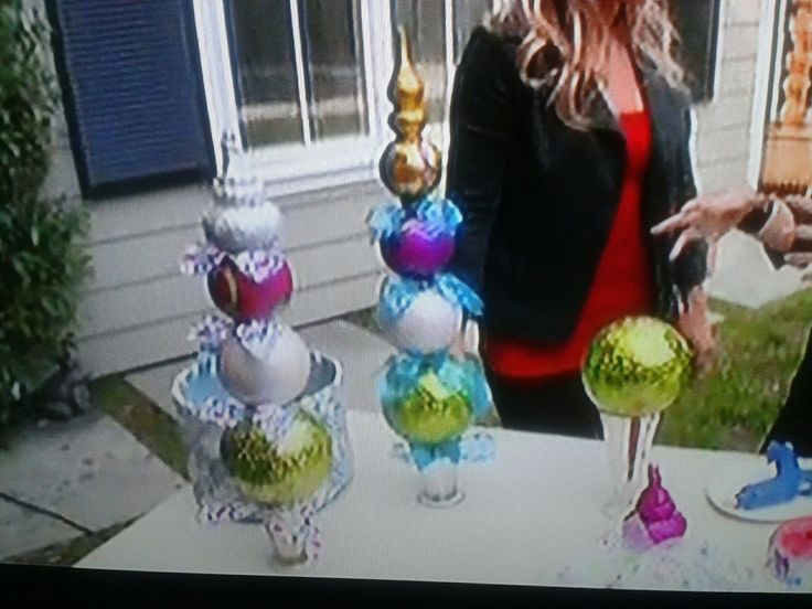Large Christmas Ornament Towers