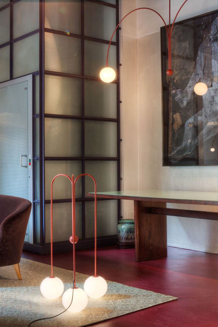 Fontana Amorosa collection of lampsbyMichael Anastassiades forNilufar Gallery.