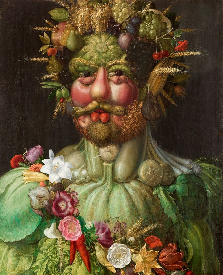 Fourth grade Giuseppe arcimboldo fruit and vegetable portrait