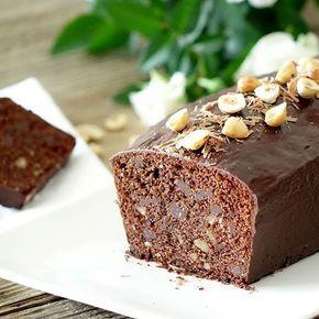 Un cake chocolat et noisettes à tomber !