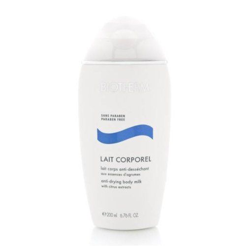 Lait Corporel Anti-Drying Body Milk Biotherm 6.76 oz BodyMilk For Unisex by Biotherm. $36.90. With a texture that is neither sticky nor oily, the milk penetrates easily into skin, leaving it fresh and perfectly hydrated.. Its three-way action repairs flaky skin, restores the skin's protective barrier and protects its natural elasticity. This everyday body milk instantly helps the skin recover its smooth and satiny appearance. Helps the skin recover its smooth & satiny appeara...
