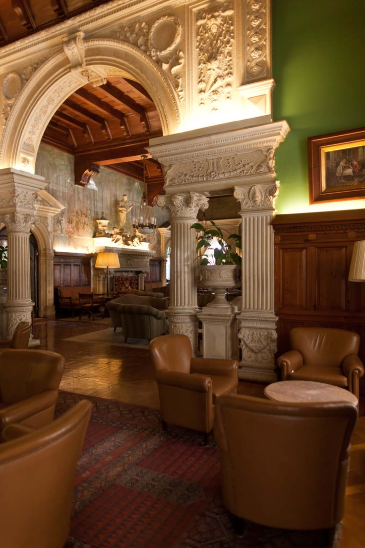 Bussaco palace , Portugal - When a was a little girl there was always a pianist on this lounge near the big dining room