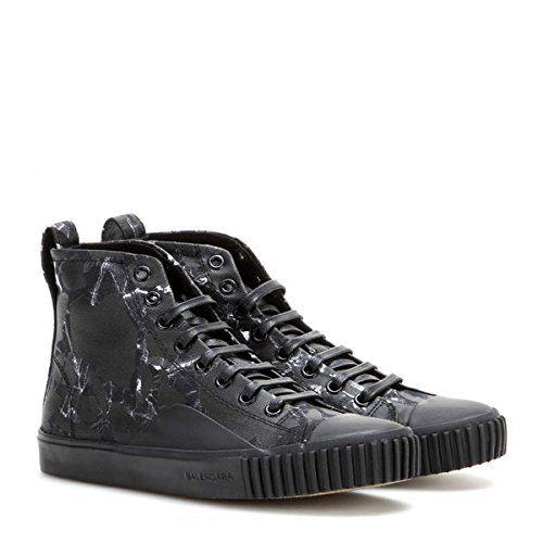 (バレンシアガ) Balenciaga レディース シューズ・靴 スニーカー Printed canvas high-top sneakers 並行輸入品  新品【取り寄せ商品のため、お届けまでに2週間前後かかります。】 商品番号:hb4-p00123315