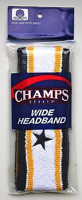 Sweatbands 179811: 10 Headbands Athletic Headband Sweat Blue White Gold Cotton Elastic One Size -> BUY IT NOW ONLY: $44.99 on eBay!