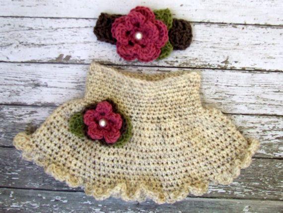 La falda en el trigo Topo y rosa rosa con diadema disponible