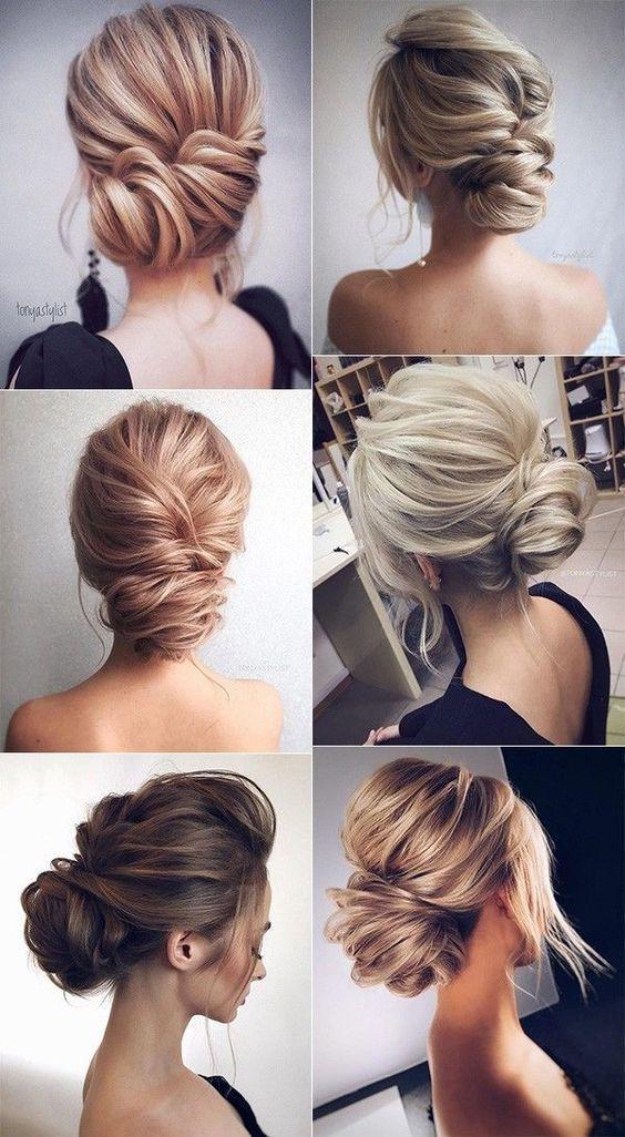 elegant updo wedding hairstyles for 2018 #weddingh…