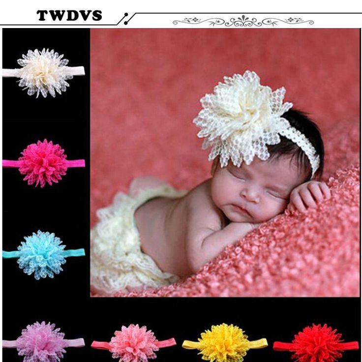 Grosir rambut Bunga Pita Rambut Mutiara Bunga Headband Newborn Headbands Shabby Aksesoris w42