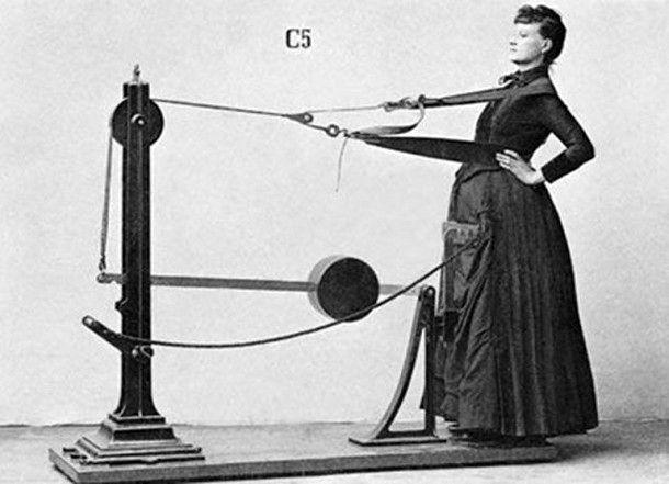 Gustav Zander's Exercise Machines, 1800s    Even back then!!!!