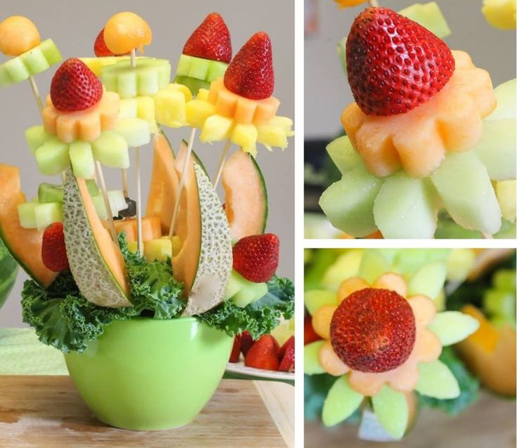 Fruit flowers! #design #fruit #likeflowers #melon #strawberries