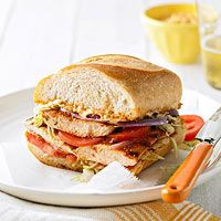 BHG's Newest Recipes:Guy Fieri's Grilled Chicken Tortas with Chipotle Crema Recipe