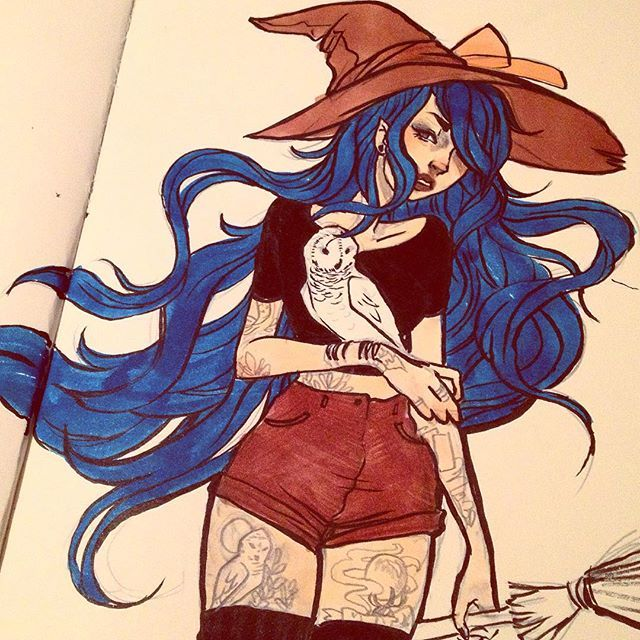 a quick #inktober for today! Sorry I missed the last two already , it has been a…