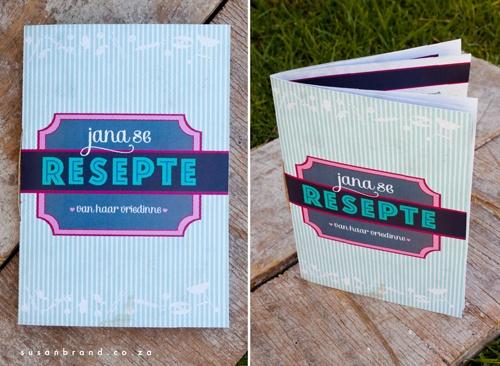Recipe book for bride