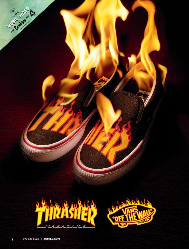 Vans x Thrasher Slip-On Pro Black Skate Shoes