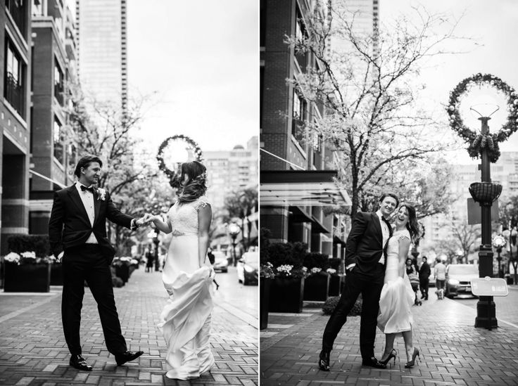 Yorkville :: Muslim Wedding :: Toronto :: Lovely after wedding photo shoot at Yorkville <3 Black and white photos are so romantic!