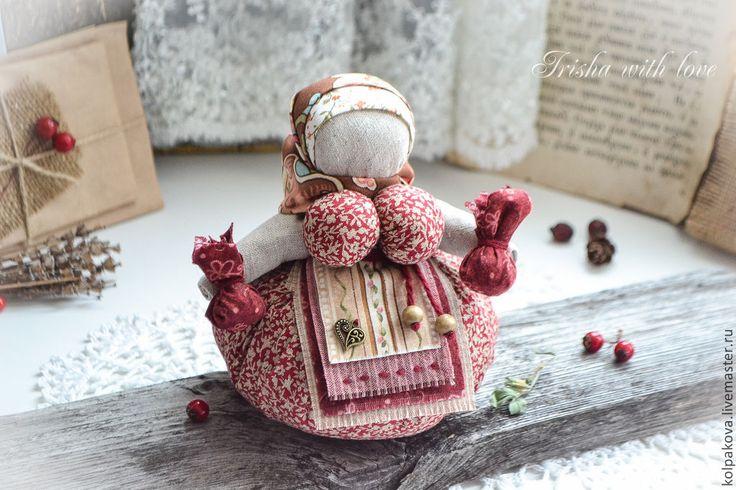 """Купить кукла-оберег Кубышка-травница""""Спелая ягода"""". - бордовый, народная кукла, народная традиция"""