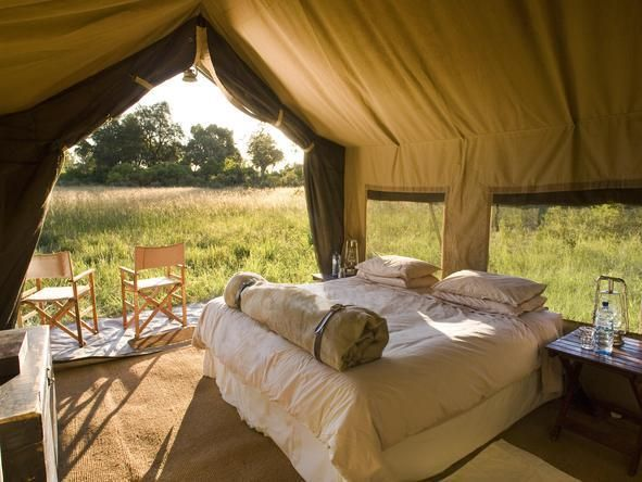 Chobe Under Canvas; set in a secluded campsite in the heart of the Chobe National Park, #Botswana #Romantic #Beds #weloveafrica