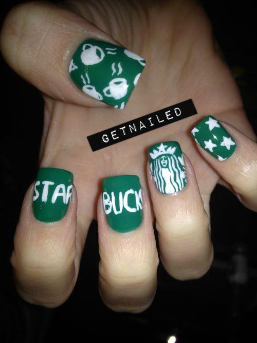 Who didn't love Strabucks?? Gonna be a loser in coffee n' mani ♥♡♥