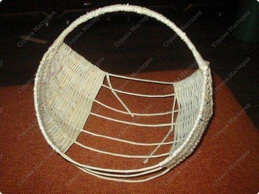 У меня просили показать плетение на проволоке, исполняю просьбу. Теперь корзина ждет завершающей отделки, но это будет потом..... Фото 10
