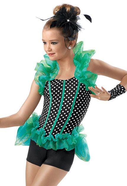 Polka Dot Shrug Buslte Biketard -Weissman Costumes