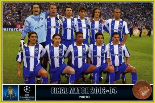 FC Porto team group for the 2004 Champions League Final.