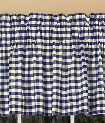 Adorable Blue Gingham Curtains